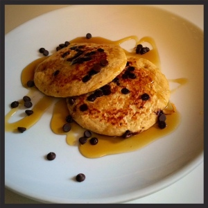 Chocolate Chip Banana Oatmeal Pancakes