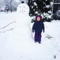 Biggest snowman on the block!!